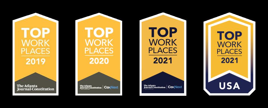 BVL Top Work Places Website badges