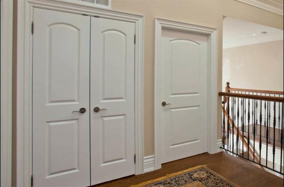 Installed Interior Doors Trim
