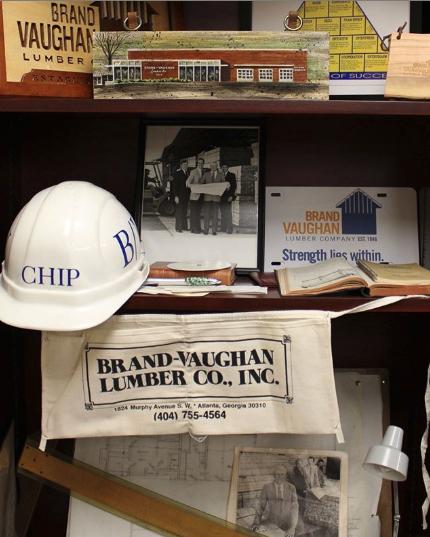 Shelf with Brand Vaughan Lumber items