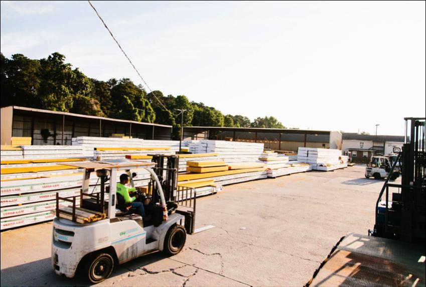 Lumber yard in Atlanta