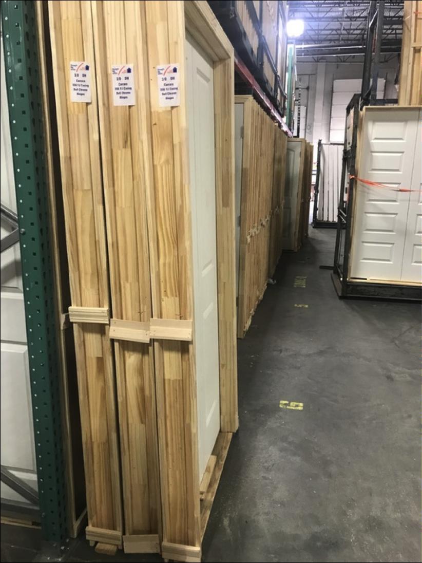 Doors stacked