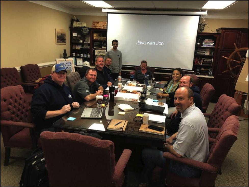 Brand Vaughan Lumber Team Meeting
